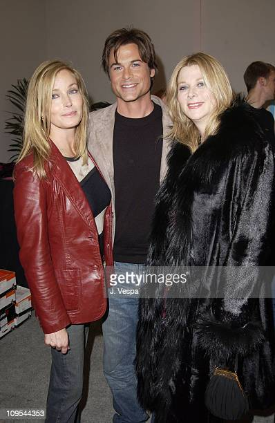 Bo Derek Rob Lowe and his wife Sheryl Berkoff at the Backstage Creations Talent Retreat