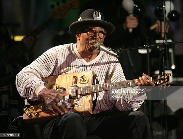 Bo Diddley during 20th Annual Rock and Roll Hall of Fame Induction Ceremony Rehearsals at Waldorf Astoria in New York City New York United States