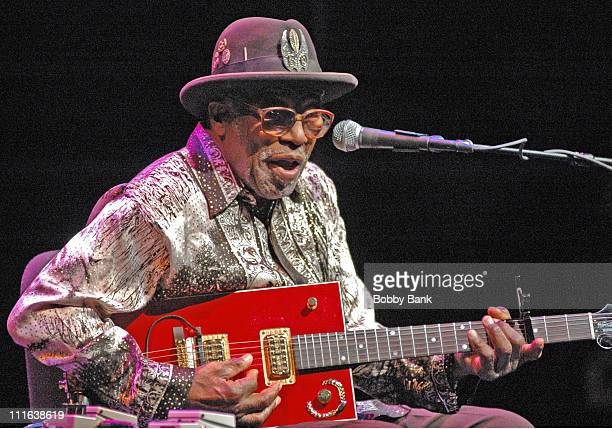 Bo Diddley during Bo Diddley Friends in Concert at the McCarter Theatre November 4 2006 at McCarter Theatre in Princeton New Jersey United States