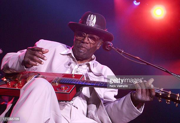 Bo Diddley during Bo Diddley Performs Live at the Borgata August 4 2006 at The Event Center at the Borgata in Altantic City New Jersey United States