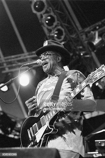 Bo Diddley vocalguitar at the North Sea Jazz Festival in the Hague Netherlands on 16th July 1995