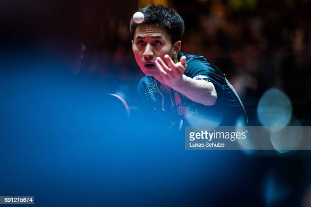 Bo Fang of China competes at Table Tennis World Championship at Messe Duesseldorf on June 01 2017 in Dusseldorf Germany