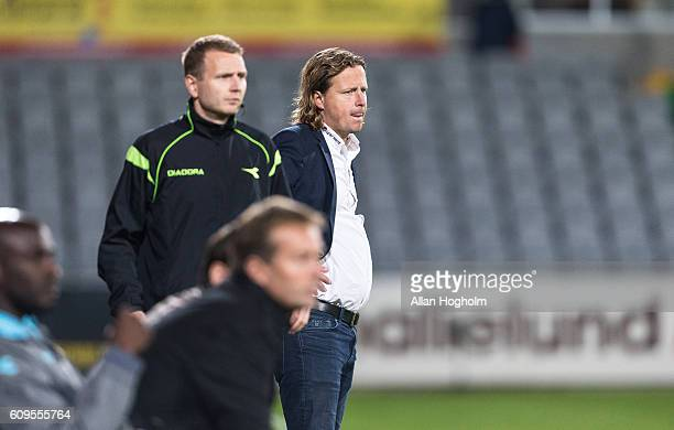 Bo Henriksen head coach of AC Horsens during the Danish Alka Superliga match between AC Horsens and FC Nordsjalland at CASA Arena Horsens on...