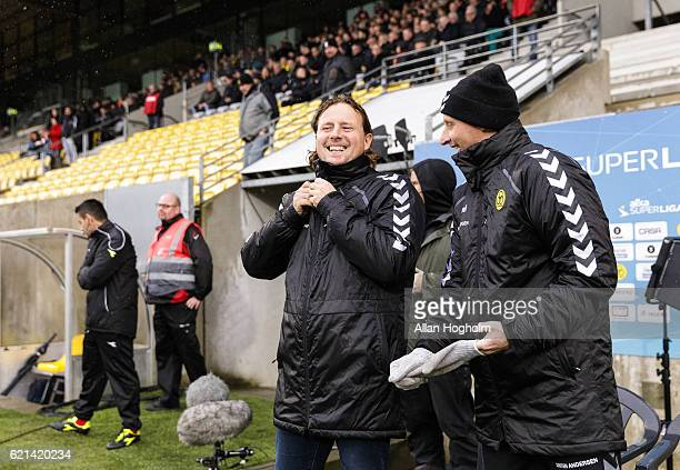 Bo Henriksen head coach of AC Horsens prior to the Danish Alka Superliga match between AC Horsens and FC Midtjylland at CASA Arena Horsens on...