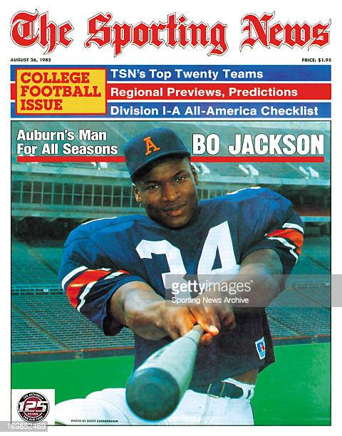Auburn Tigers' Bo Jackson August 26 1985 Bo Jackson Auburn's Man For All Seasons
