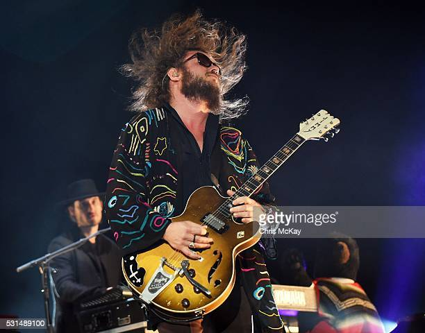 Bo Koster and Jim James of My Morning Jacket perform at Shaky Knees Music Festival at Centennial Olympic Park on May 14 2016 in Atlanta Georgia