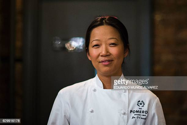 Bo O'Connor Korean chef and coowner of The Pomeroy restaurant poses for a picture on December 2 2016 in Astoria in the Queens Borough of New York...