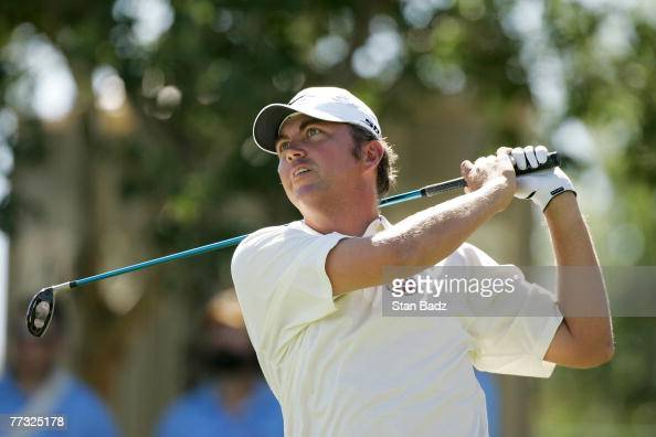 Bo Van Pelt hits his tee shot at the sixth hole during the fourth round of the Fryscom Open benefiting Shriners Hospitals for Children at TPC...