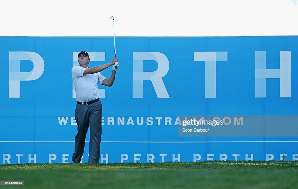 Bo Van Pelt of the USA hits an approach shot on the 17th hole during day three of the Perth International at Lake Karrinyup Country Club on October 20, 2012 in Perth, Australia.