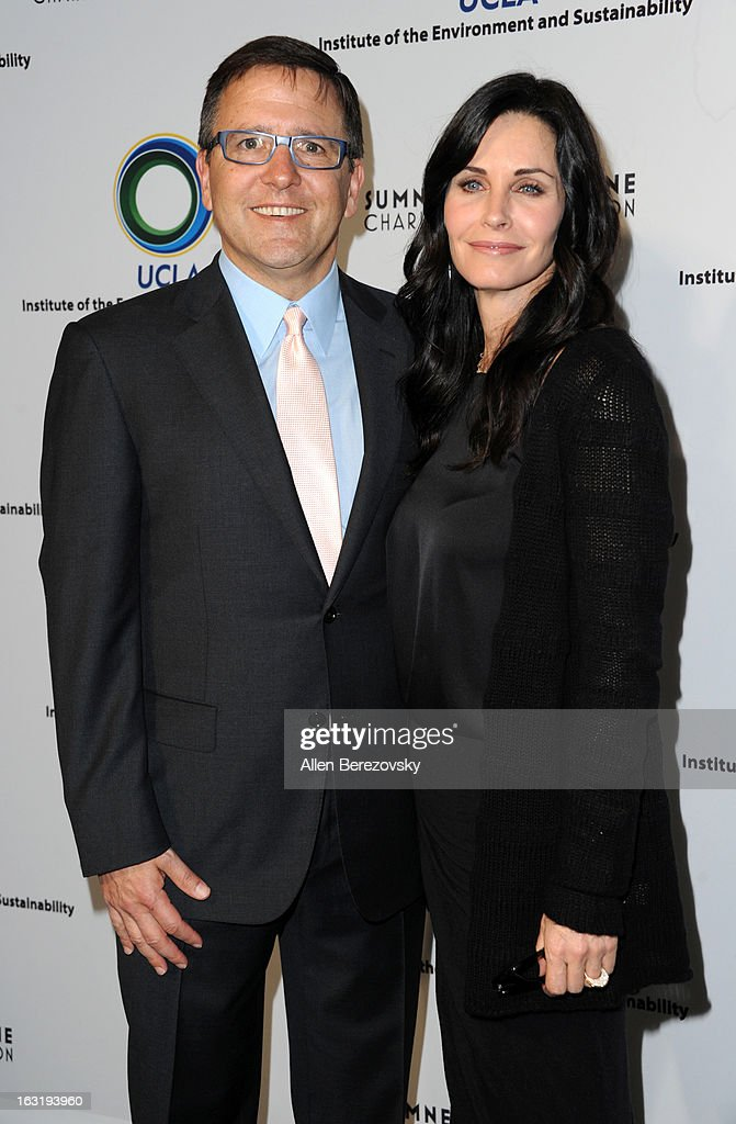 Board chair Anthony N. Pritzker and actress <a gi-track='captionPersonalityLinkClicked' href=/galleries/search?phrase=Courteney+Cox&family=editorial&specificpeople=203101 ng-click='$event.stopPropagation()'>Courteney Cox</a> attend UCLA Institute Of The Environment And Sustainability's 2nd Annual 'An Evening Of Environmental Excellence' - Arrivals on March 5, 2013 in Beverly Hills, California.