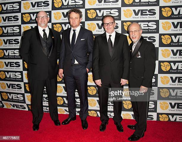 Board Chair Mike Chambers Actors Jason Clarke and Clark Gregg and VES Executive Director Eric Roth arrive at The 13th Annual VES Awards Arrivals at...