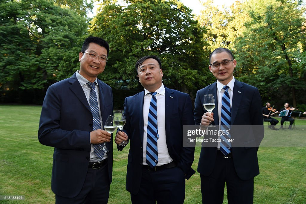 Board Manager of FC Internazionale Ren Jun and CEO of FC Internazionale Yang Yang attend a gala dinner after the FC Internazionale Shareholder's Meeting on June 28, 2016 in Milan, Italy.
