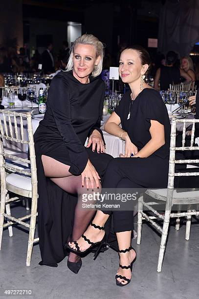 B2B board member Ali Taekman and designer Jennifer Meyer attend the 2015 Baby2Baby Gala presented by MarulaOil Kayne Capital Advisors Foundation...