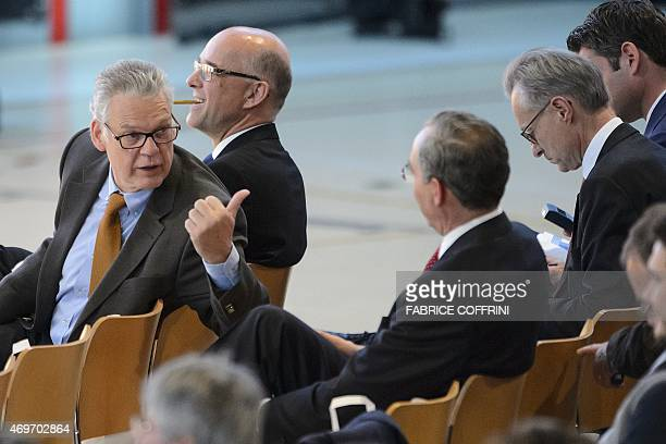 Board Member and representative of the founding family Urs Burkard on April 14 2015 during a general assembly in Baar central Switzerland The annual...