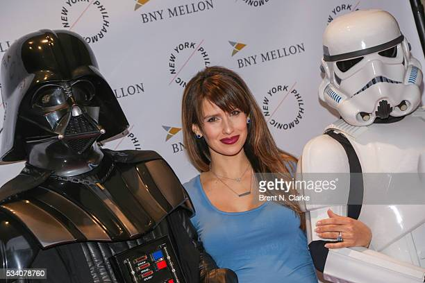 Board member Hilaria Baldwin attends the New York Philharmonic Spring Gala A John Williams Celebration held at David Geffen Hall on May 24 2016 in...