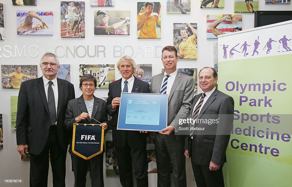 FFA Board Member Jack Reilly Moya Dodd FIFA Chief Medical Officer