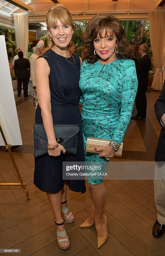 BAFTA board member Julia Verdin and actress Joan Collins attend the BAFTA LA 2014 Awards Season Tea Party at the Four Seasons Hotel Los Angeles at Beverly Hills on January 11, 2014 in Beverly Hills, California.