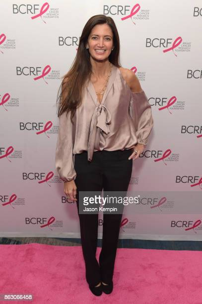 Board Member Maria Baum arrives at the Breast Cancer Research Foundation New York Symposium and Awards Luncheon at New York Hilton on October 19 2017...
