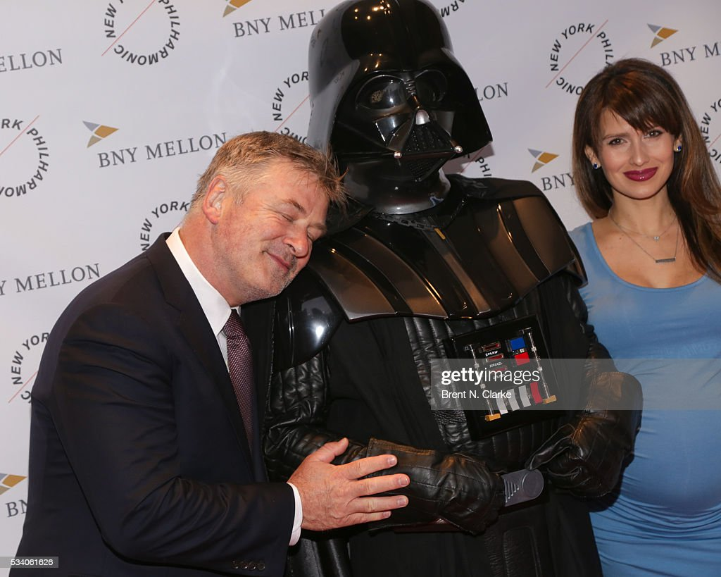 Board members Alec Baldwin (L) and Hilaria Baldwin attend the New York Philharmonic Spring Gala - A John Williams Celebration held at David Geffen Hall on May 24, 2016 in New York City.