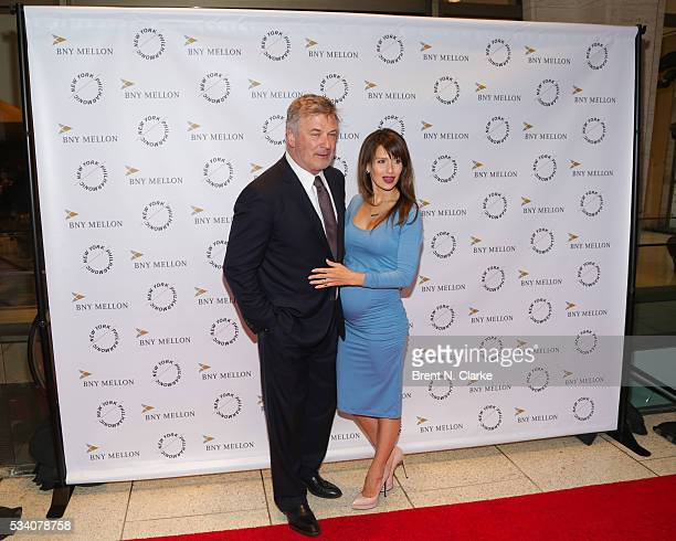 Board members Alec Baldwin and Hilaria Baldwin attend the New York Philharmonic Spring Gala A John Williams Celebration held at David Geffen Hall on...