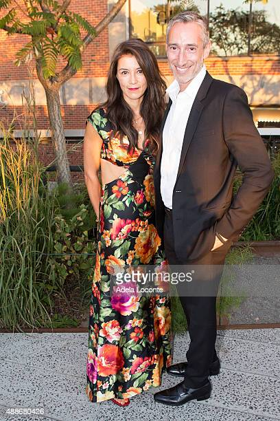 Board Members Hermine Riegerl and David Heller attend the Anual Fundraising Event at Diller von Furstenberg Sundeck on September 16 2015 in New York...