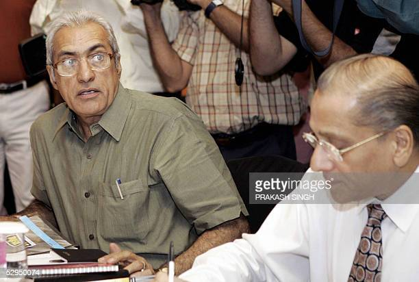 Board of Control for Cricket in India President Ranbir Singh Mahendra and former BCCI President and member of the selection panel Jagmohan Dalmiya...