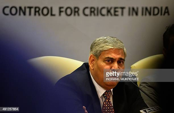 Board of Control for Cricket in India president Shashank Manohar speaks after taking charge at the Indian cricket board's headquarters at the...
