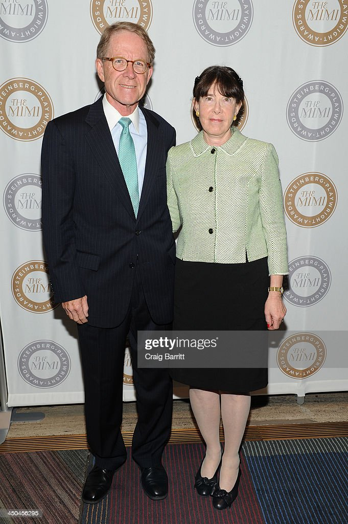 Board of Director Carole Krumland (R) attends The 2013 Steinberg Playwright 'Mimi' Awards presented by The Harold and Mimi Steinberg Charitable Trust at Lincoln Center Theater on November 18, 2013 in New York City.