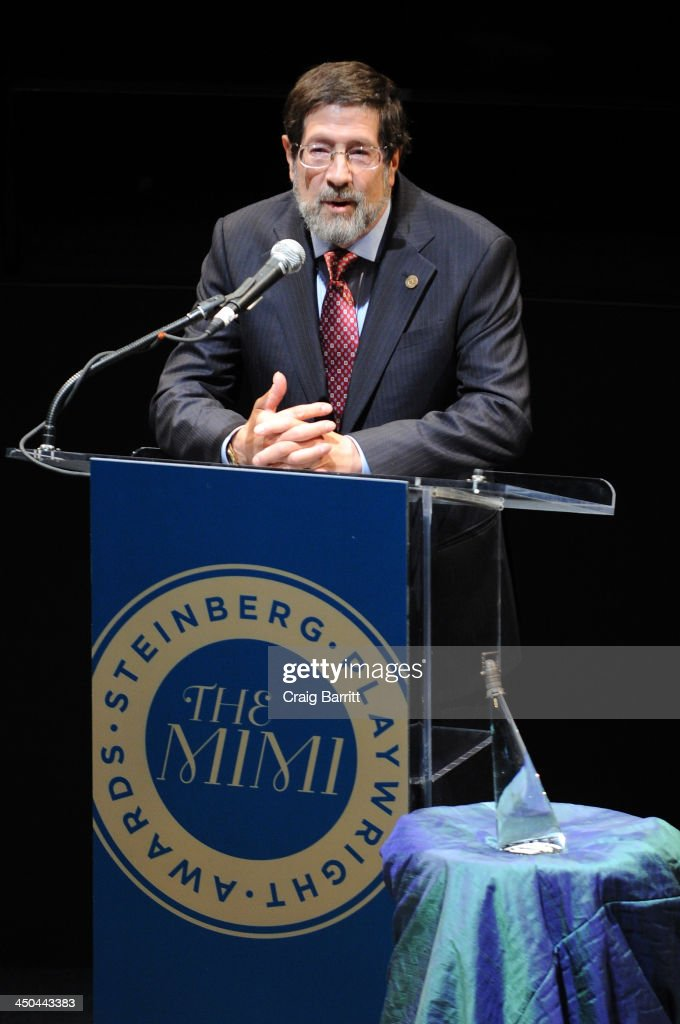 Board of Director James D. Steinberg speaks on stage at The 2013 Steinberg Playwright 'Mimi' Awards presented by The Harold and Mimi Steinberg Charitable Trust at Lincoln Center Theater on November 18, 2013 in New York City.