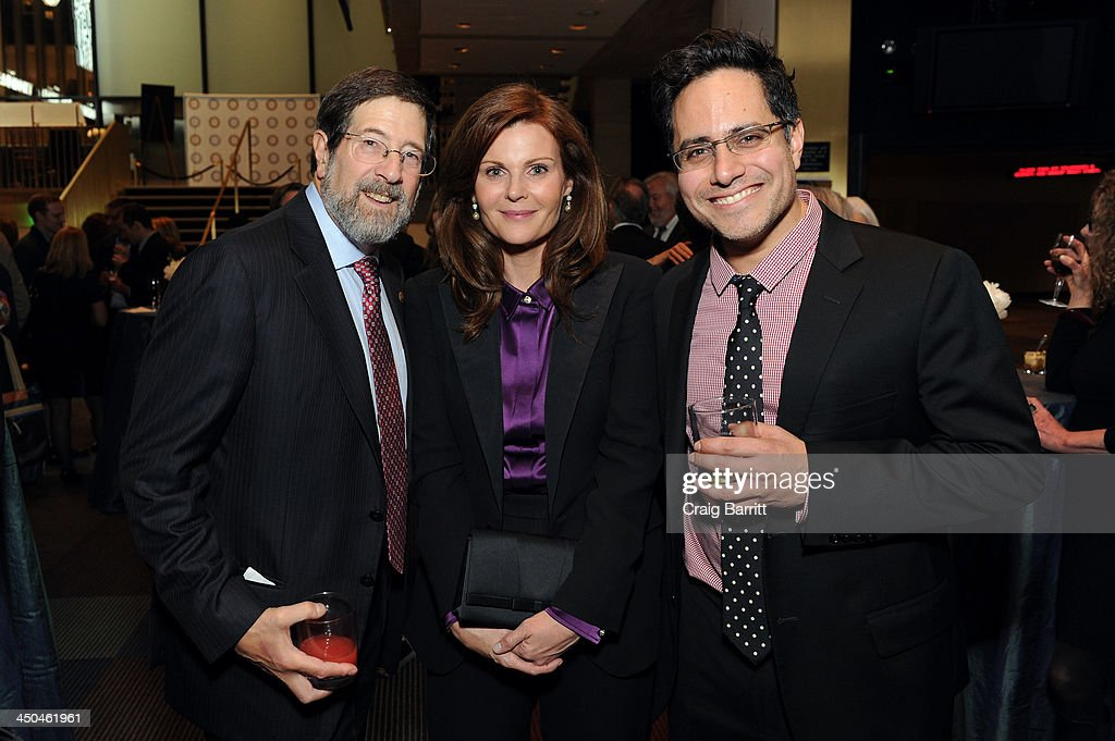 Board of Director James Steinberg, Lori Watson and playwright Rajiv Joseph attend The 2013 Steinberg Playwright 'Mimi' Awards presented by The Harold and Mimi Steinberg Charitable Trust at Lincoln Center Theater on November 18, 2013 in New York City.