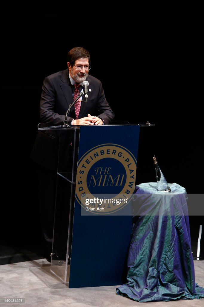 Board of Director James Steinberg speaks onstage at The 2013 Steinberg Playwright 'Mimi' Awards presented by The Harold and Mimi Steinberg Charitable Trust at Lincoln Center Theater on November 18, 2013 in New York City.