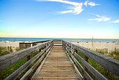 Board walk on the beach in Orange Beach, Alabama