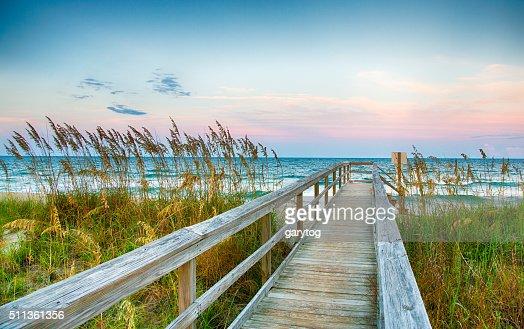 Board Walk on the Beach : Stock Photo