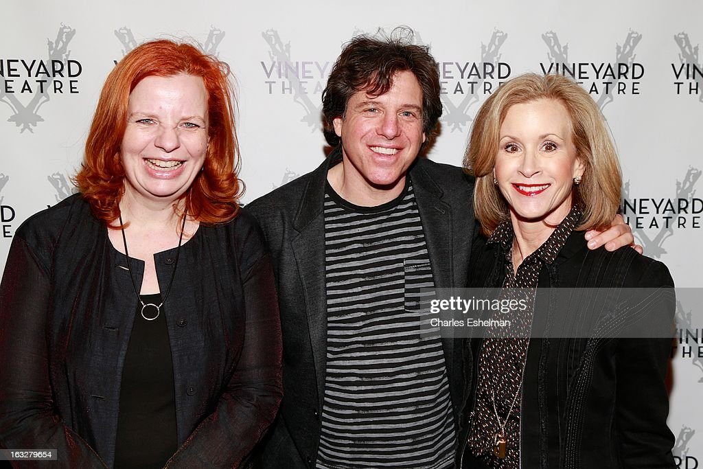 Boardmembers Annette Stover, John Coles and Jill Gabbe attend the off Broadway opening night of 'The North Pool' at Vineyard Theatre on March 6, 2013 in New York City.