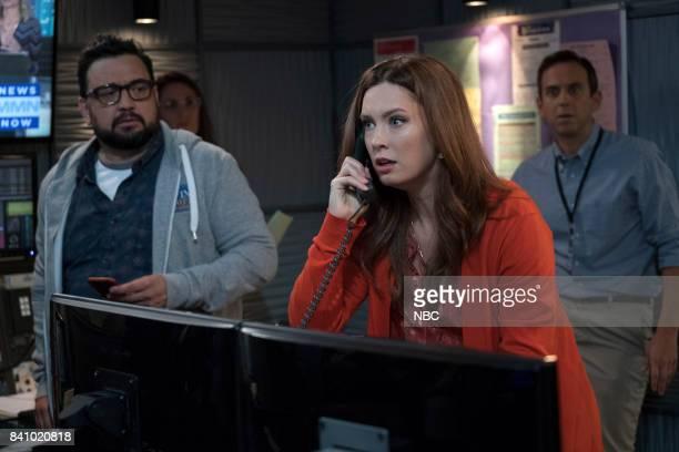 NEWS 'Boardroom Bitch' Episode 201 Pictured Horatio Sanz as Justin Briga Heelan as Katie Brad Morris as Gene