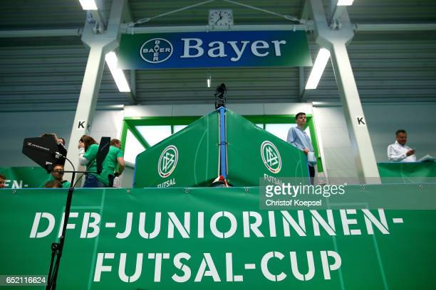 Boards during the C Junior Girl's German Futsal Championship at Bayer Hall on March 11 2017 in Wuppertal Germany