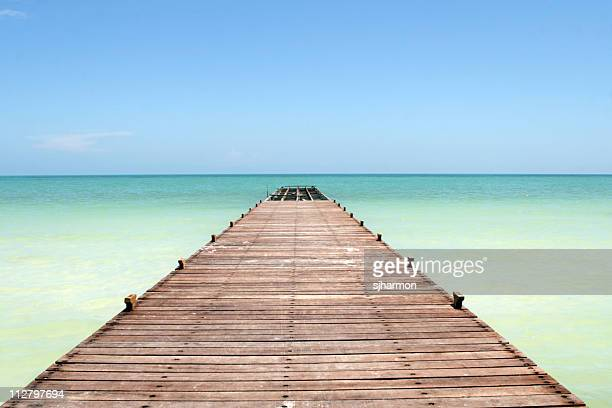 Boardwalk in the Caribbean