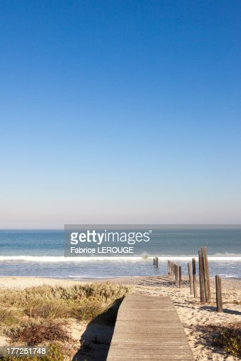 Boardwalk leading towards the beach