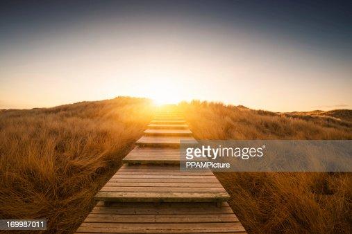 ボードウォークの砂丘