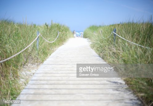 Boardwalk to the beach : Stock Photo