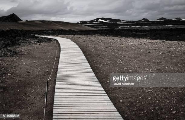 Boardwalk trail in Leirhnjukur Volcanic Area, Iceland