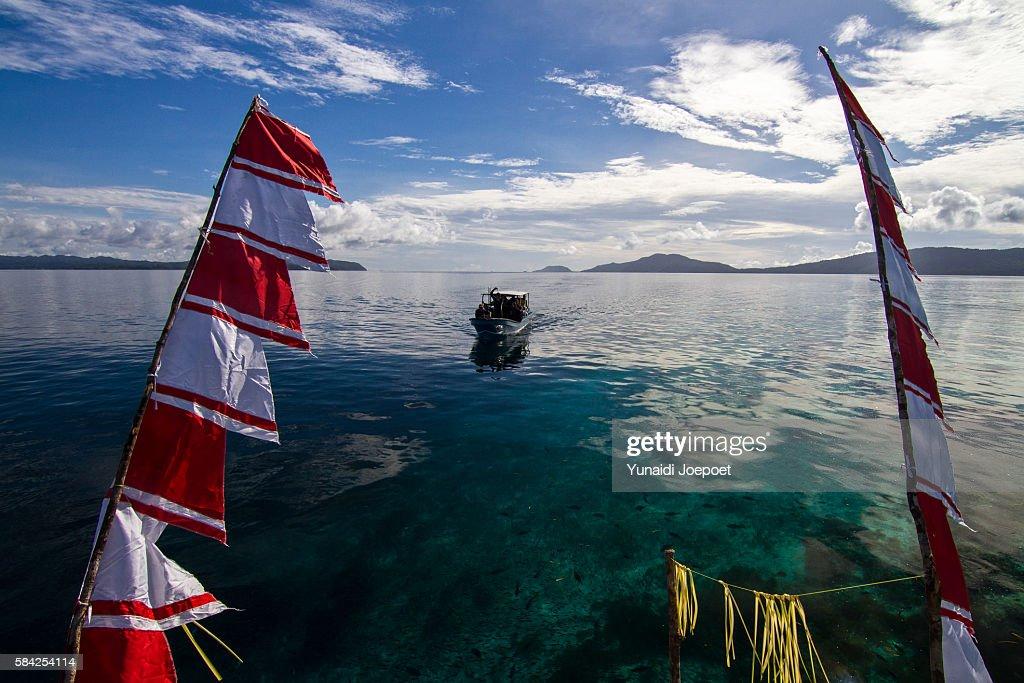 Boat Above the Sea, Raja Ampat, West Papua