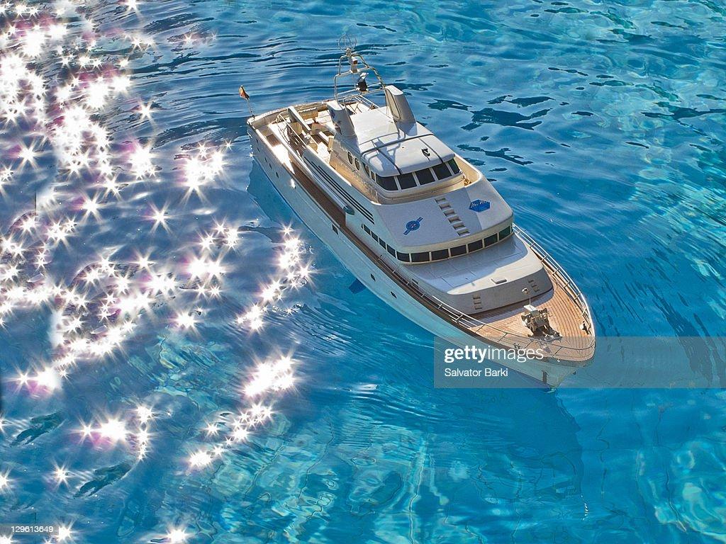 Boat among shining stars