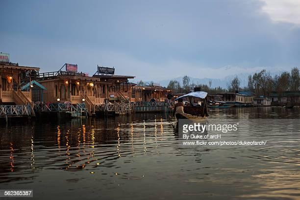 Boat and Houseboats at Dal lake : Kashmir : India