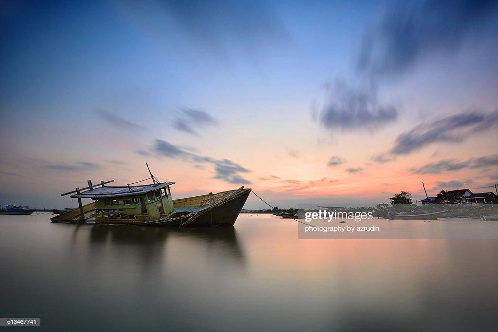Boat at a fisherman village