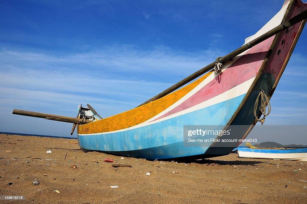 Boat at beach : Stock Photo