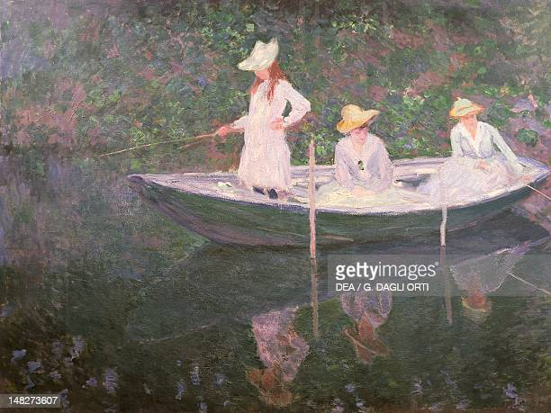 Boat at Giverny by Claude Monet oil on canvas 98x131 cm Paris Musée D'Orsay