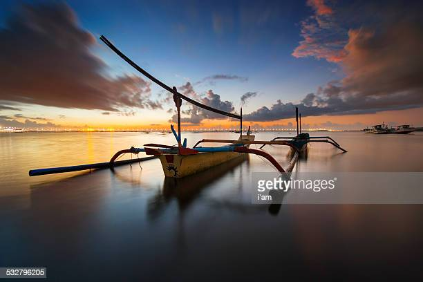 Boat at Tuban Beach, Bali.