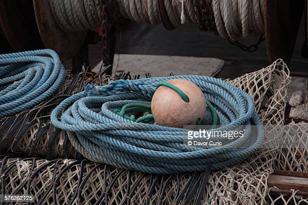 Boat buoy with rope