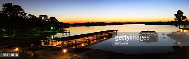 boat deck in sunrise